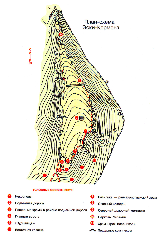 План схема Эски-Кермена