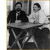 Горький и Чехов в Ялте
