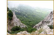 Вид с вершины Чертовой лестницы