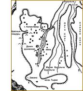 Карта-схема Долгоруковской яйлы